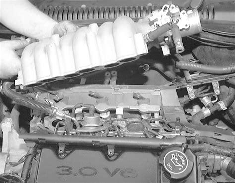 1996 ford aerostar upper intake removal repair guides engine mechanical intake manifold