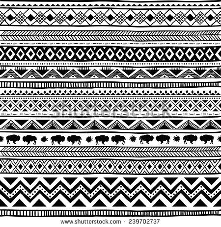 aztec pattern drawing aztec stock photos images pictures shutterstock