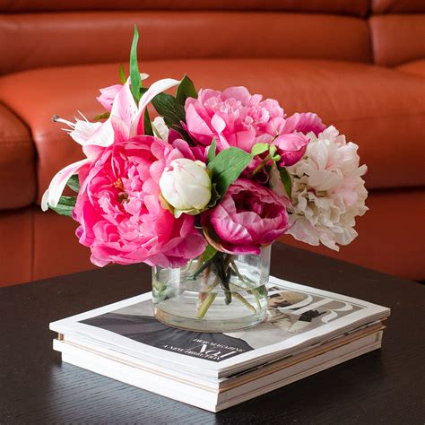 peony arrangement flash sale was 135 large fuchsia pink peonies arrangement