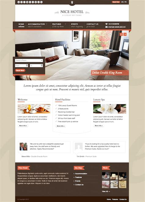 wordpress themes hotel free download 20 best wordpress themes for hotels 2017 wildemuse com