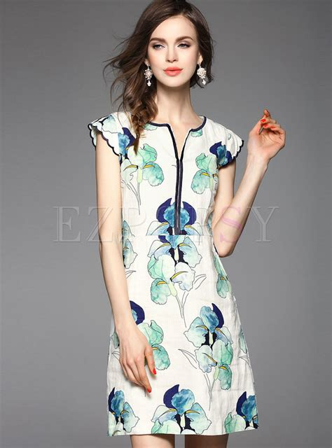 Sleeve Cheongsam vintage print lace sleeve cheongsam dress ezpopsy