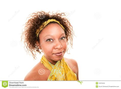 african green pretty african american woman in green wrap dress stock