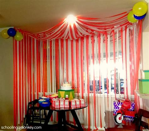 themed party house circus party diy circus tent tents corner and circus party