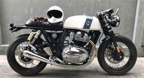 modified royal enfield continental gt takes  minimalist