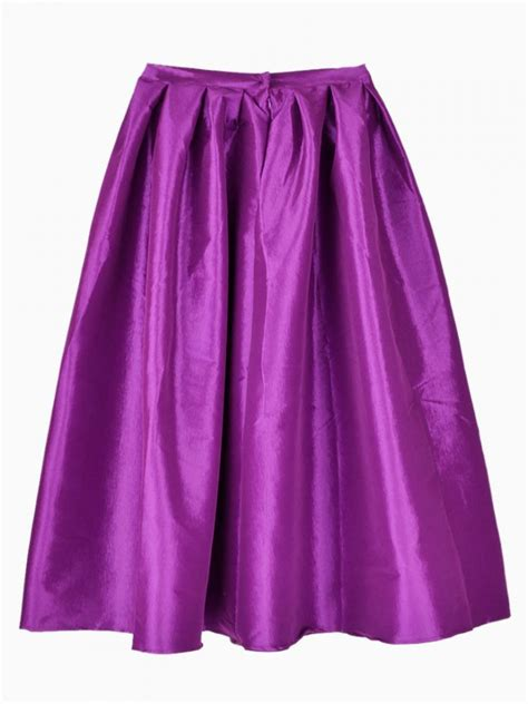 Midi Flare Skirt Pastel Limited purple flare pleated midi skirt shein sheinside