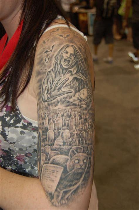 graveyard back tattoo graveyard world tattoo on shoulder