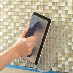 How To Do A Kitchen Backsplash by Install A Kitchen Glass Tile Backsplash