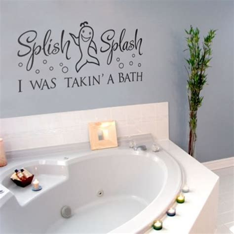 wall sticker bathroom artistic and enjoyable rest room quote wall stickers house interior designs