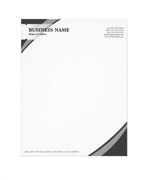 business stationery templates free sle letterhead templates letters font