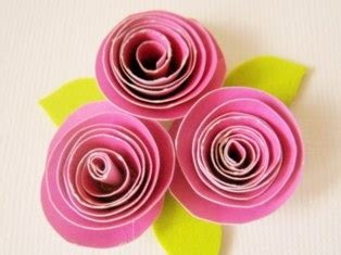 How To Make Paper Roses For Cards - how to make paper roses free tutorial on how to make