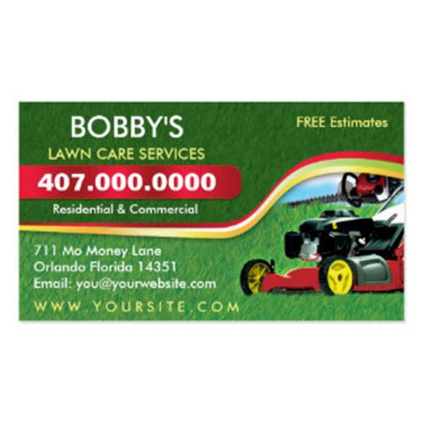 landscape card template landscaping business cards templates zazzle