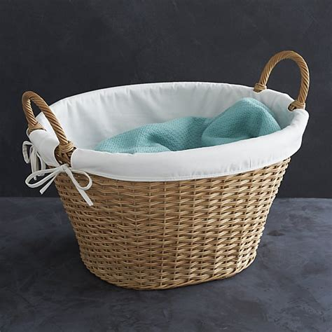 laundry liner wicker laundry basket with liner crate and barrel