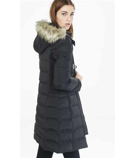 Puffer Coat lyst express filled toggle puffer coat in black
