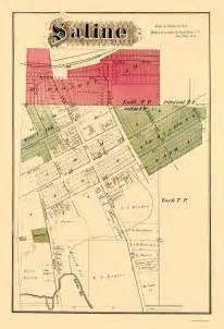 Saline Michigan Map by Old City Map Saline Michigan Landowner Krause 1874