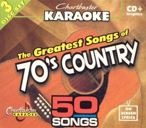 chartbuster karaoke greatest songs   country