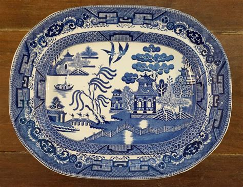 china pattern blue willow large blue willow platter willow pattern wedgwood and