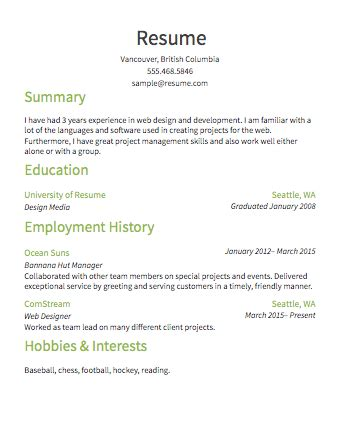 Resume Images by Image Gallery Simple Resume