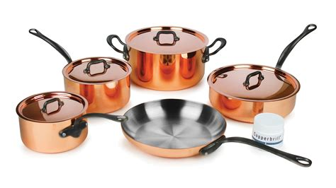 copper cookware set mauviel m heritage 150c2 copper cookware set 9 cutlery and more