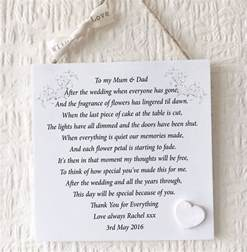 Thank You Letter Parents The Groom parents thank you wedding gift personalised mum dad plaque bride groom