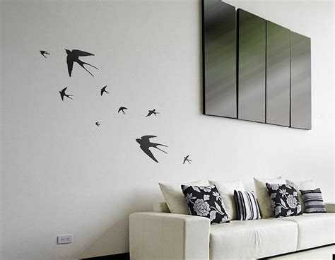 contemporary wall stickers flying swallows vinyl wall sticker contemporary wall stickers
