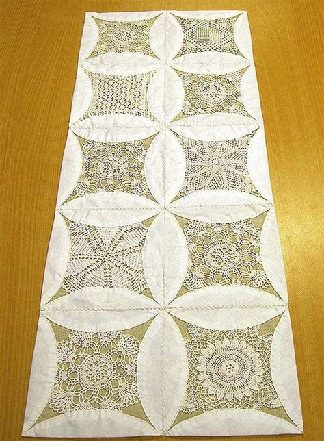 cathedral window runner 172 best vintage hankies linen and lace images on