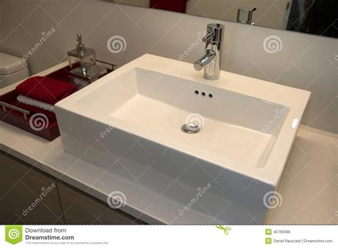 home interior bathroom mirror and sink stock photo image bathroom sink counter tap mixer glass blue royalty free