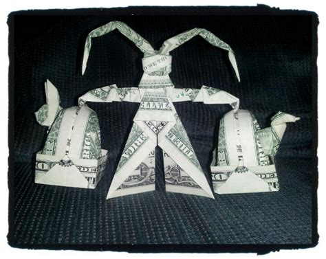 Easter Money Origami - easter bunny money origami