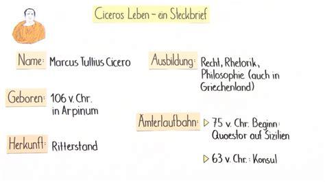 Cicero Lebenslauf Und Werke Cicero Lebenslauf Lebenslauf