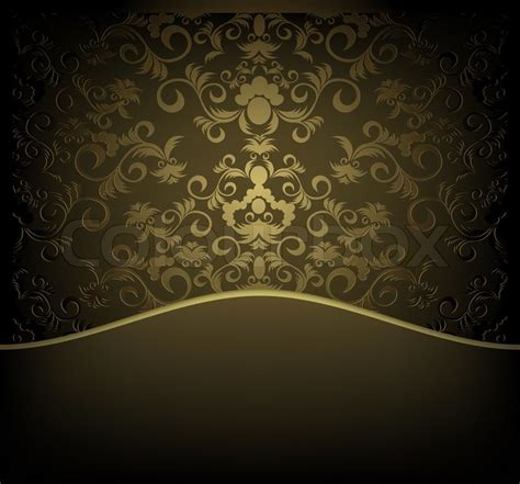 Home Decorations Online by Decorative Design Background With Floral Golden Ornament