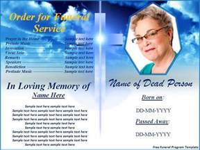 funeral leaflet template free free funeral program templates button to