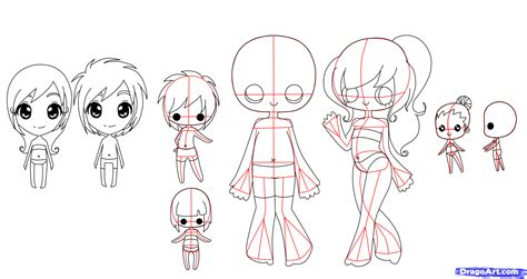 sketchbook guide how to draw chibi bodies step by step chibis draw chibi