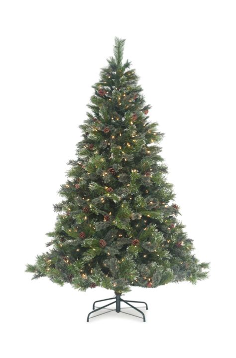 colorado pine or aster pine artificial christmas tree oregon pine 7 5 pre lit artificial tree led hom furniture