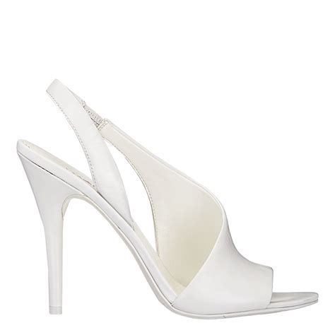 Back Heels nine west aila sling back heels in white lyst