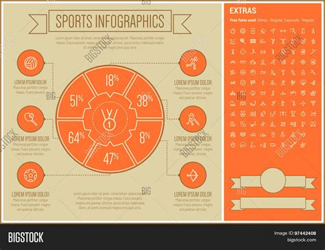 sports infographics templates sports infographic template vector photo bigstock