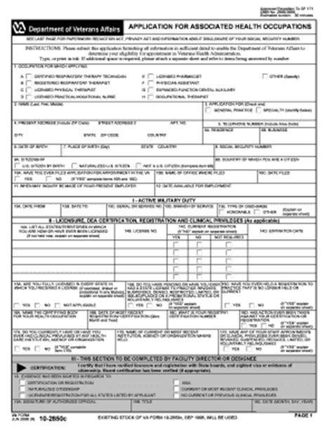 Apply For Section 8 In Va by 2006 Form Va 10 2850c Fill Printable Fillable
