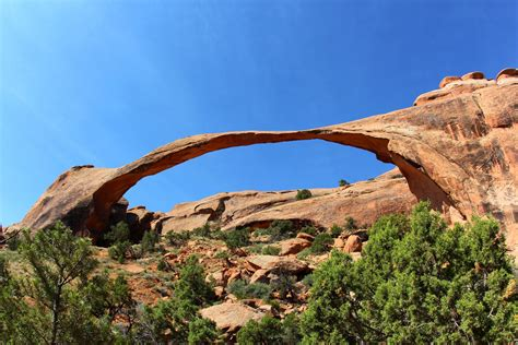 Landscape Arch Hike Landscape Arch Along S Garden Trail Arches National