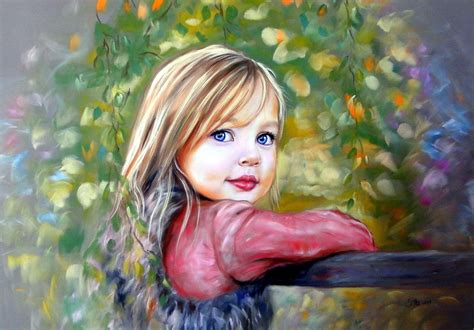painting for child portrait of children portraits personalized