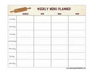 blank menu planner template 7 best images of blank printable weekly menu planner