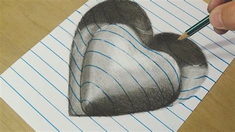 3d drawing drawing trick on line paper vamosart