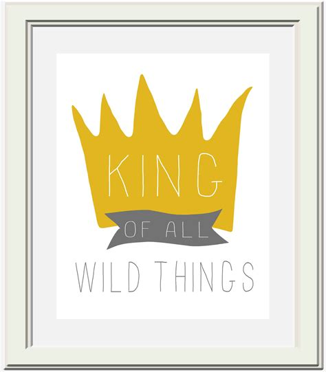 printable max crown where the wild things are nursery printable king of all wild