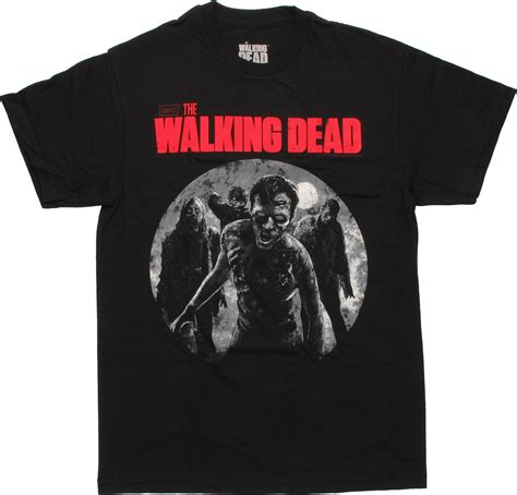 walking dead t walking dead walkers moon t shirt