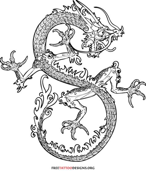 oriental tattoo outlines image gallery oriental dragon outline