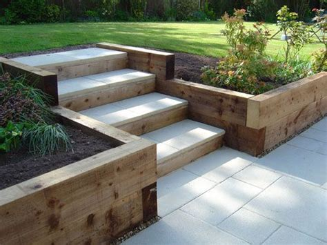 garden steps using railway sleepers house inspiration