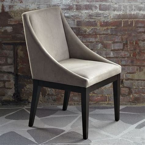 west elm dining room chairs curved upholstered chair dove gray