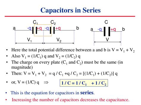 capacitor in series ppt ppt capacitors in circuits powerpoint presentation id 6906
