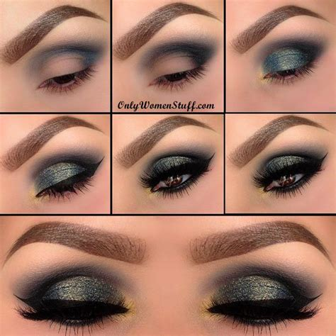 tutorial on eyeshadow application 35 easy smokey cat eye makeup step by step tutorial