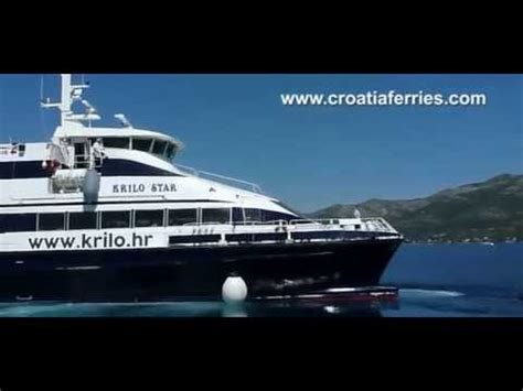 catamaran ferry krilo from dubrovnik to korcula ferry catamaran krilo star arriving in korcula on route