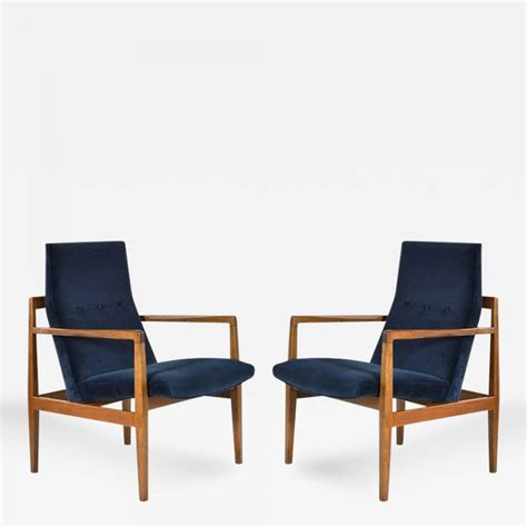 Jens Risom Lounge Chair by Jens Risom Pair Of Floating Jens Risom Lounge Chairs In