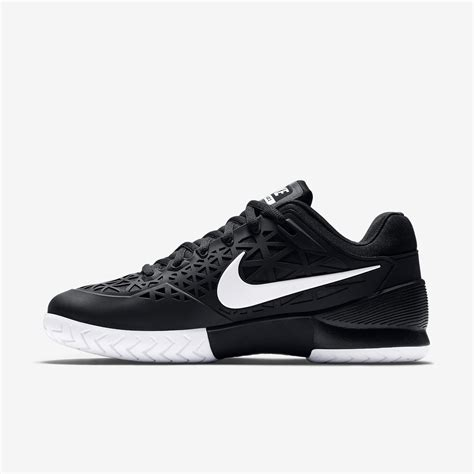nike mens zoom cage 2 tennis shoes black white