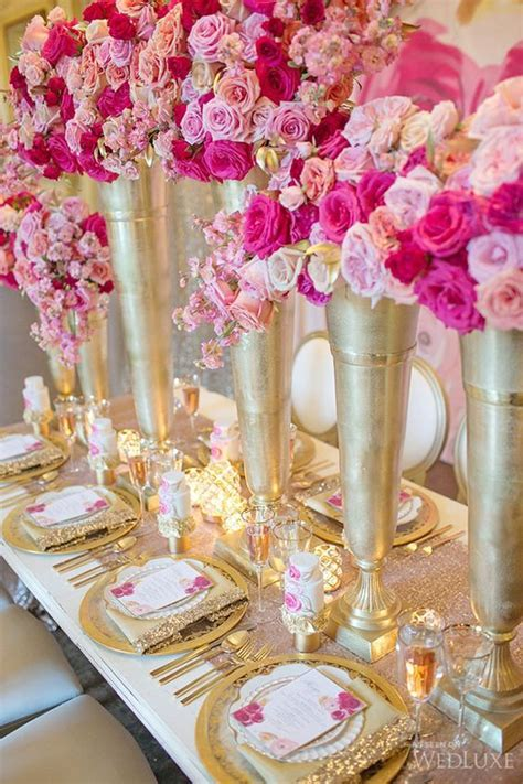 rose themed quince 50 insanely over the top quinceanera centerpieces